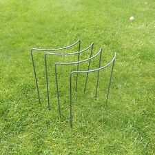 "4 Tall Handmade Victorian Bow Style Metal Plant Supports - 5/16"" Solid Steel Bar"