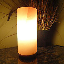 Himalayan Natural Rock Cylinder Shape Salt Lamp Hand Crafted Ionizer Air Purify