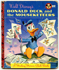 Disney DONALD DUCK AND THE MOUSEKETEERS Little Golden Book LGB D55
