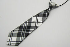 Hot Girls Boys Black and white Elastic Tie School Wedding Party Necktie Kids #26