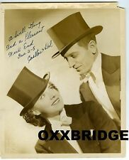 CARLTON AND DELL SIGNED PHOTO 1938 Vaudeville Acrobatic Dance & Song Duo Theater