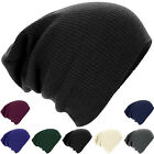 Mens Ladies New Warm Winter Knitted Oversized Slouch Beanie Hat Cap skateboard