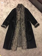 ladies womens long winter coat With faux fur size 22 new with tags
