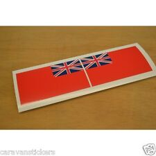 Flag 'Red Ensign' Flat Vinyl Sticker Decal Graphic PAIR