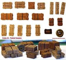 1/35 Scale resin kit Wooden Crates Set #4 Military diorama accessory
