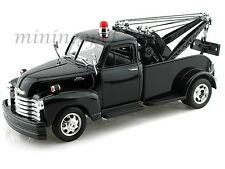 WELLY 22086 1953 53 CHEVY CHEVROLET TOW TRUCK 1/24 DIECAST ALL BLACK