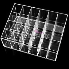 24 Acrylic Holes Clear Lipstick Storage Lip Display Stand Case Holder