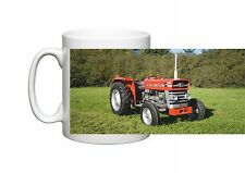Photo mug with a vintage Massey Ferguson 135 tractor on a Durham Tea coffee mug