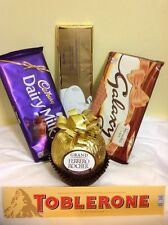 BIG FERRERO ROCHER + LINDT + GALAXY + DAIRY MILK + TOBLERONE CHOCOLATE BAR UK