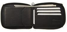 New Genuine Leather Men's Zipper Zip-Around Credit Card Organizer Bifold Wallet