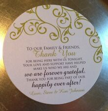 20 Wedding Reception Thank You Cards for Dinner Plates - Vintage Florish Border