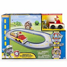 PAW PATROL ROCKY'S BARN RESCUE TRACK PLAYSET BRAND NEW IN BOX FROM SPINMASTER