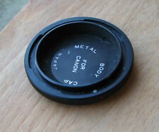 Canon FD FL  front metal body cap (not eos)