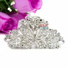 Beautyxyz White Crystal high quality Metal Butterfly/flower Hair Claw Clip Pin