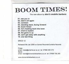 (FT268) Don's Mobile Barbers, Boom Times! - 2006 DJ CD