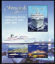 """St Kitts MNH 2009 The 20th Anniversary of """"Freewinds"""" M/S"""