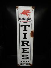 Antique style-vintage look Mobil pegasus tire sales  gas service pump sign