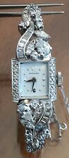 Vintage Ladies Platinum & 2.00ct Diamond Hamilton Watch 23.90 Grams
