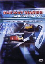 Railway Diaries Across England Exeter Stafford Toton & Nottingham New DVD Trains