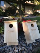 Screech Owl / Kestrel Nest Box, White Cedar  (Two nest boxes)
