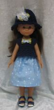 """LES CHERIES Corolle 13"""" Doll Clothes #16 Handmade Top, Hat & Skirt Set"""