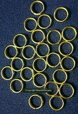 7mm Gold plated split rings jump rings 24 pcs jewelry clasp attach charms fpc003