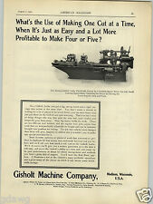 1902 PAPER AD Gisholt Machine Co Lathe Madison Wisconsin Wells Bros Taps Tap