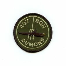 RCAF CAF Canadian 407 Demons Squadron OD Crest Patch
