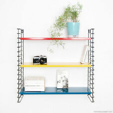 Coloured Tomado String Wall Bookshelf Shelf Shelving Metal Midcentury 1960