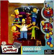 Simpsons McFarlane Toys Couch Gag Box Figure Set MIB New from 2004