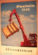 ✪ Sales brochures originale macchine per edilizia prospetto POCLAIN t.y.45 trasbordo