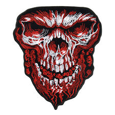 GIANT SKULL EMROIDERED JACKET VEST IRON ON 6 INCH RA4 BIKER PATCH