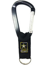 Black Jumbo 80 MM Carabiner w/ Web US Army Strap Key Ring