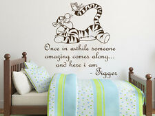 Wall Decals Quotes Winnie the Pooh Tigger Nursery Vinyl Sticker Decal NS814