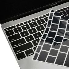 "Black Keyboard Cover Silicone Skin for New Macbook 12"" with Retina Model A1534"