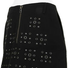 Women's Coach Black X Blitz 'grommet' Shirttail Hem Skirt RRP £445