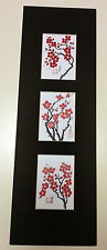 5.5x17 cherry blossom plum flowers Asian Art 1  - Chinese Brush Painting