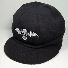 AVENGED SEVENFOLD PROMO KNIT CAP HAT W/ VISOR foREVer THE REV DEATHBAT UNWORN