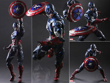 Square Enix Variant Play Arts Kai Captain America Avengers Figure Figurine NoBox
