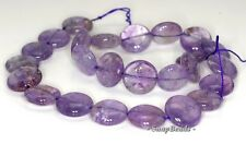 16MM  AMETHYST GEMSTONE GRADE B FLAT ROUND LOOSE BEADS 7""