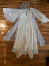 Vtg Women's Titanic Rose Costume Theater Dress Gown Robe Slippers Wig Necklace