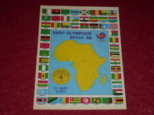 [Coll.J. DOMARD SPORT] XXIVe OLYMPIC GAMES  / SEOUL 88  A.C.N.O.A. AFRICA  Card