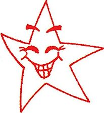 Red Smiley Star - Self inking teacher reward xstamper stamp