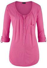 Laura Scott Longshirt Langarm Krempelärmel Shirt Hemd Bluse Pullover 140939