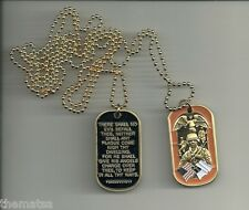 SOLDIER'S PSALM PRAYER  USA FLAG ARMY MARINE CORPS  MILTARY WAR  DOG TAG