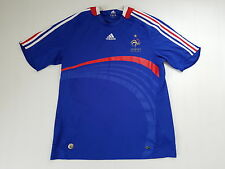 MAILLOT FOOTBALL PORTE WORN SHIRT ANCIEN VINTAGE MAGLIA ADIDAS F.F.F. XL FRANCE