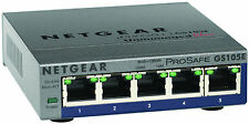 Netgear GS105E-100NAS ProSafe 5-Port Gigabit Unmanaged Plus Switch Metal Case
