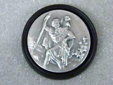 St. Christopherus Plakette selbstklebend 45 mm Metall Auto Medaille Talismann