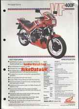 Honda-UK VF400F-D (1983-on) Dealers Data Sheet/Sales Brochure VF 400 F/FD,NC-13