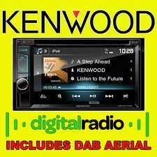 "Auto Kenwood Cd Dvd Usb Doble Din Bluetooth Estéreo Iphone 6.1 ""Dab De Antena De Radio"
